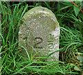 SK2828 : Concrete Milepost by Phil Myott