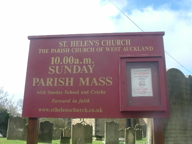 St Helen's church notice