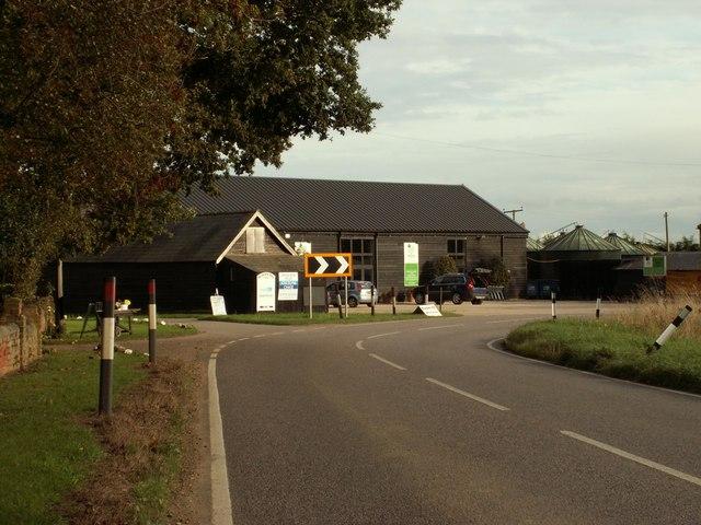 Ashlyns Organic Farm Shop, southeast of Great Bardfield
