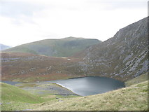 SH5150 : The Morainic Ridge separating the two main lakes of Llynnau Cwm Silyn by Eric Jones