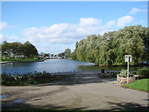 SE4422 : Pontefract Park Boating Lake by Bill Henderson