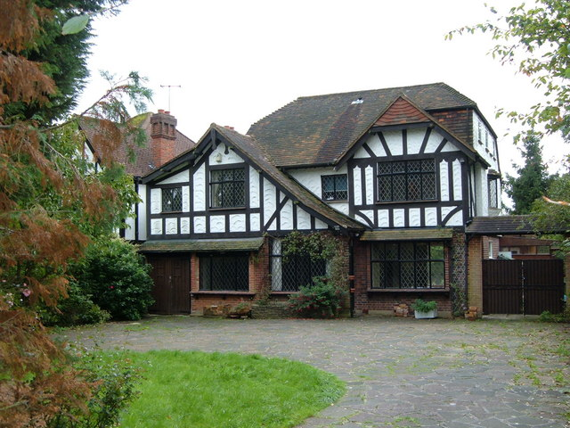 An Elizabethan style house in Canons Drive, Edgware