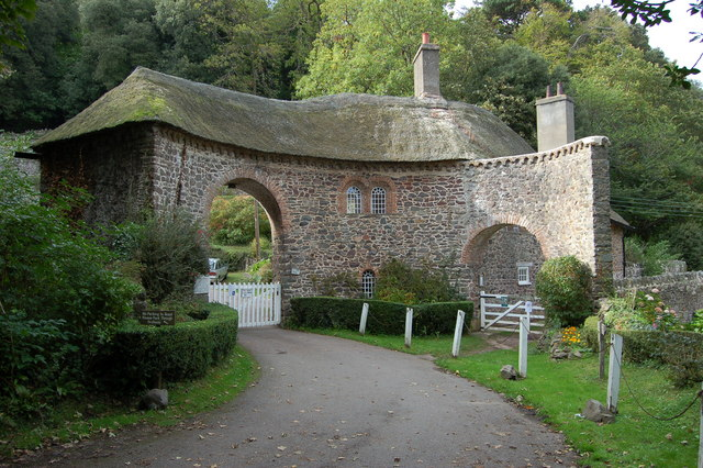 Gated entrance to the Worthy Combe Toll Road.