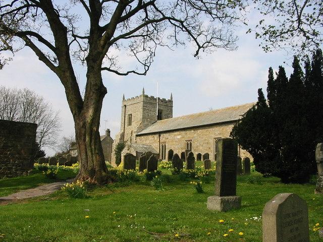 St Bartholomew Kirkwhelpington in Spring