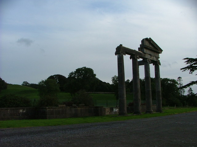 The Ruined Portico of Loughcrew House, Oldcastle, Meath