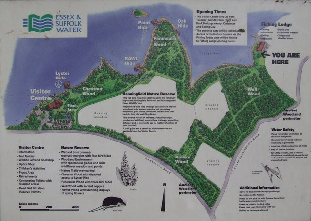 Hanningfield Reservoir Map