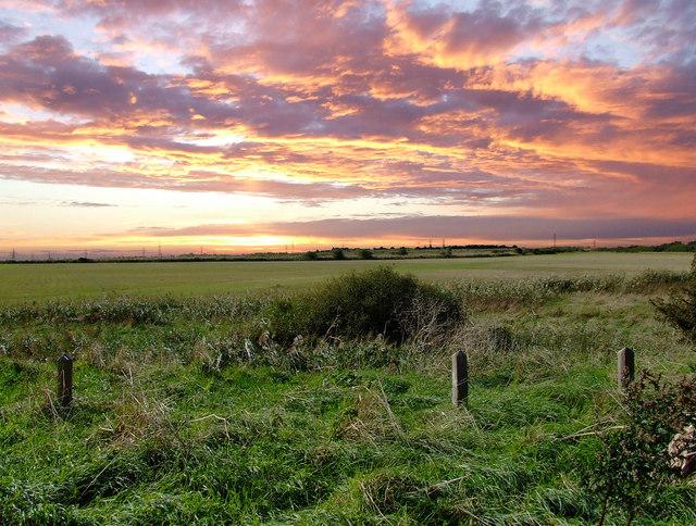 Sunset over Battlesbridge.