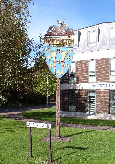 Trumpington village sign
