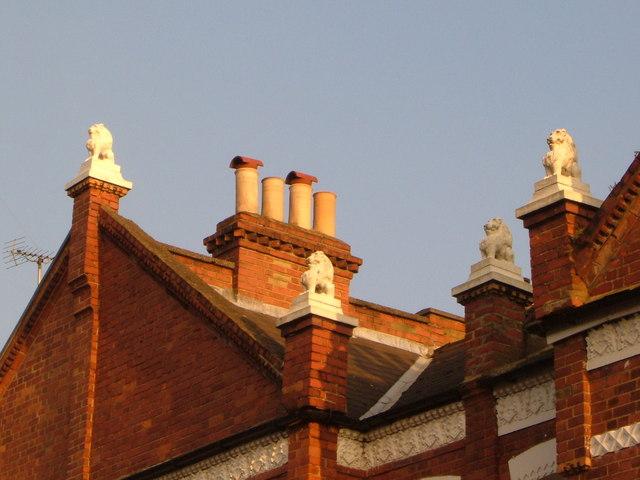 The lions of Studdridge Street