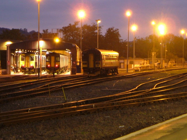 Sidings and shed at St David's station, Exeter