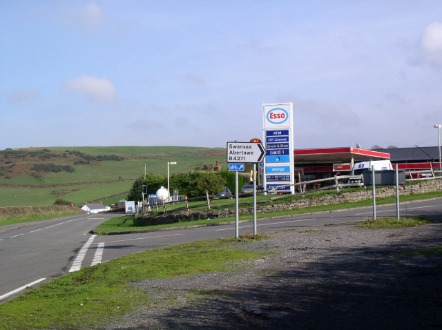 Petrol station and shop, Llanrhidian