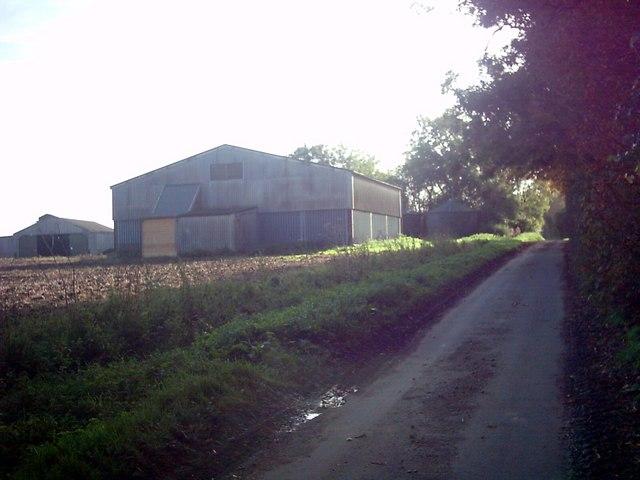 Dennington Road & Parkfield Farm Barn by Adrian Cable