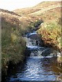 NN9632 : Waterfalls on the Crachy Burn by Gordon Brown