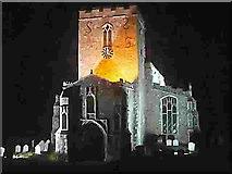 TM1763 : Debenham Church lit in late Spring by Tony Cook