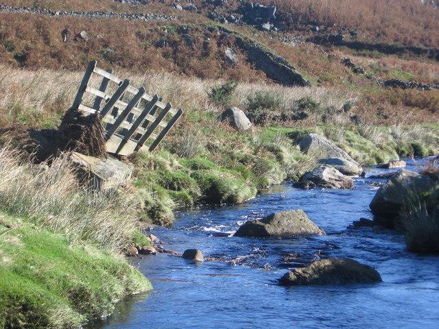Footbridge 'over'  River Washburn