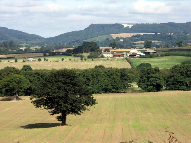 Kilburn white horse, the classic view