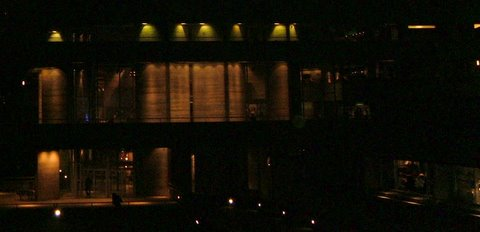 National Theatre at night.