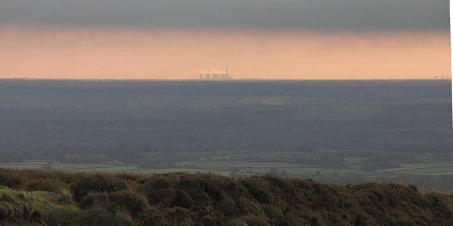 Drax Power station from Blakey Ridge
