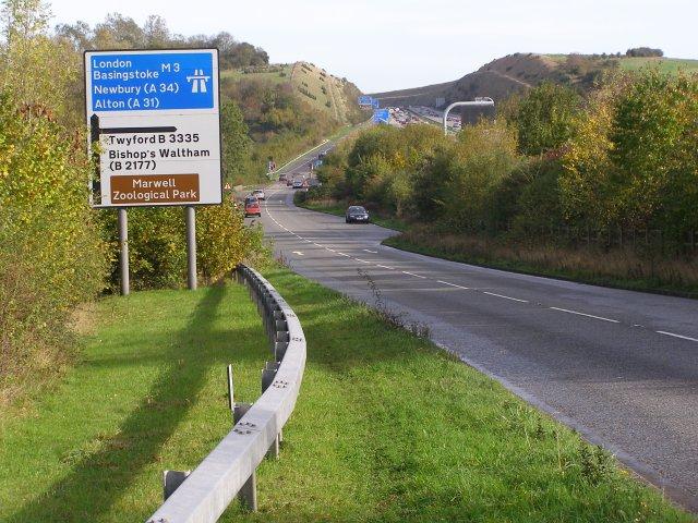 Hockley Link A3090 and the Twyford Down M3 cutting