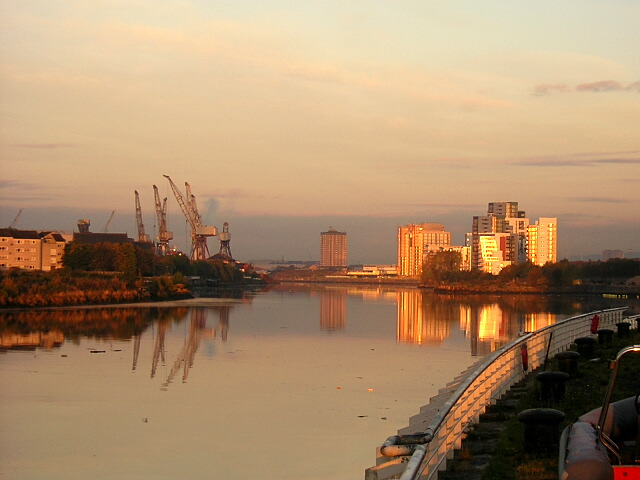View Down River Clyde at Yorkhill