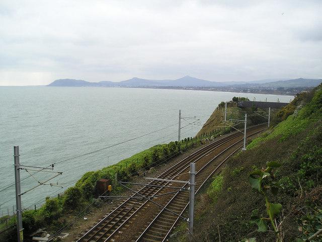 Train bridge looking towards Bray