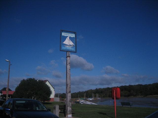 Rowhedge village sign