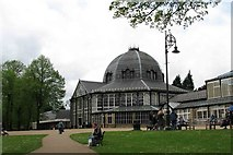 SK0573 : Buxton Pavilion (from the gardens) by www fotodiscs4u co uk