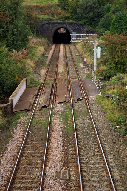 Railway line and Winterbutlee Tunnel, Walsden