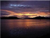 NM8529 : Sunset over Oban Bay October 06 by nigel clark