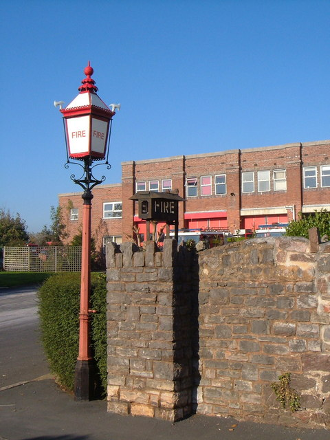 Lamp standard at Exeter Fire Station
