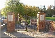 NY6820 : Park gates, Appleby by Humphrey Bolton