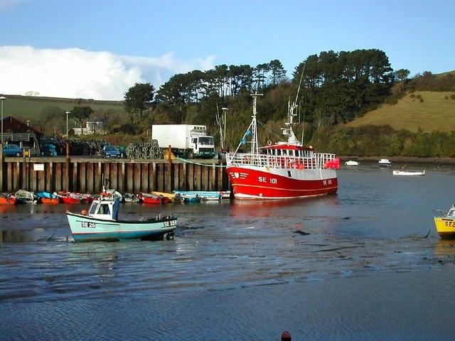 Fishing boat in Salcombe harbour