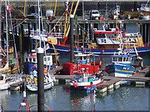 SW4628 : Fishing boats, Newlyn, Cornwall by Nigel Smith