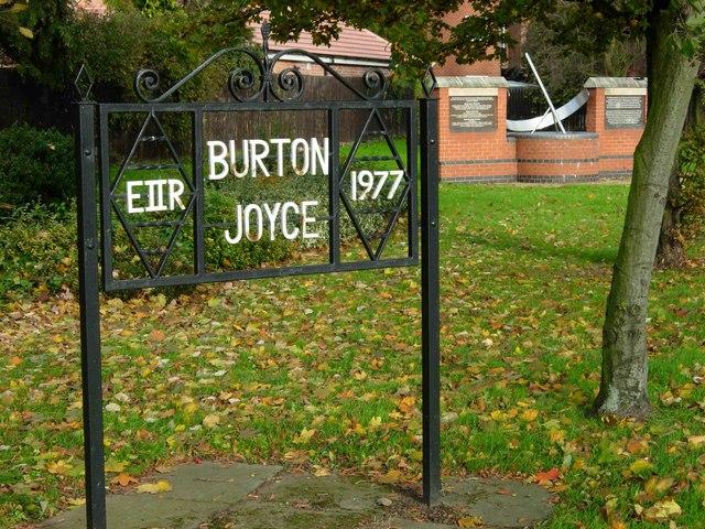 Burton Joyce Monuments