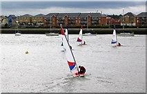 TQ7771 : Sailing  at Wilsonian Sailing club by Mike Bovington