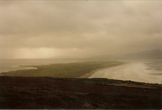 Inch Peninsula from the moors above Inch