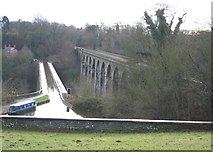 SJ2837 : Chirk aqueduct and viaduct by John S Turner