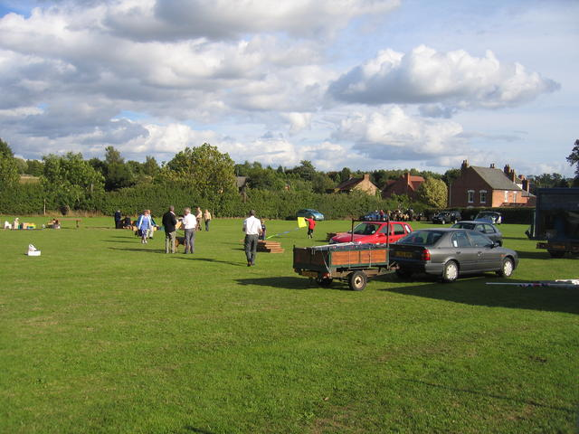 Clearing up after the Village Festival