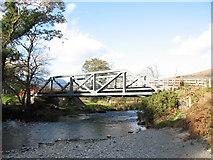 SH5947 : The Bryn y Felin Railway Bridge by Eric Jones
