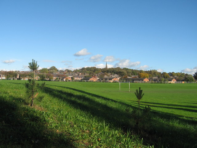 Prescot from Carr Lane Playing fields