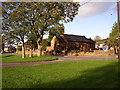 NY5633 : Village Green and church, Langwathby by Humphrey Bolton