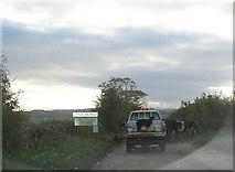 NY5636 : Rural traffic jam 1, Little Salkeld by Humphrey Bolton