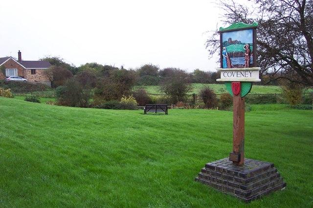 Village sign, Coveney
