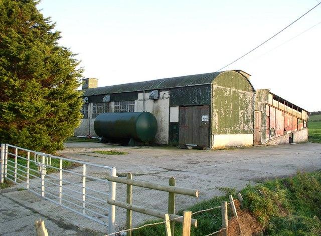 Barns beside A342