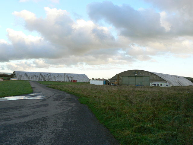 Aircraft hangars, Wroughton Airfield, Wiltshire