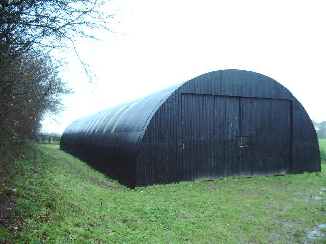 Black Nissen building