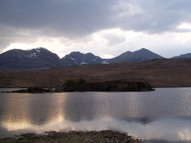 Dundonnell Forest Loch Coire Choaorachain by Roddy Smith