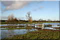 SJ9230 : Winter floods near Burston by David Emley