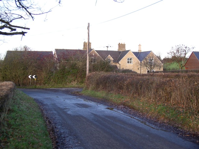 Houses at the entrance to Whitley Farm