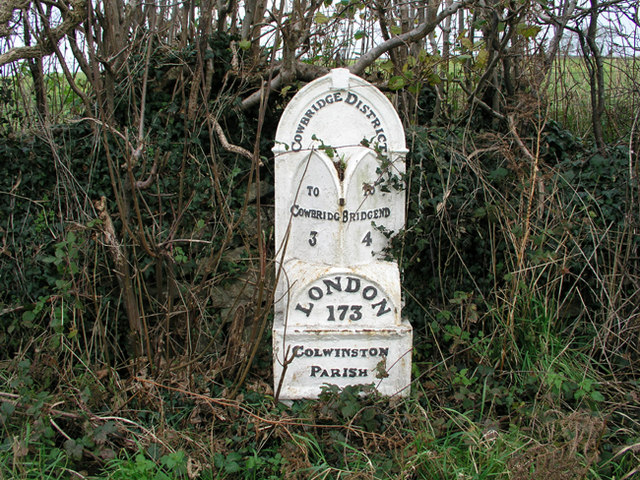 Cast Iron Mile marker on A48